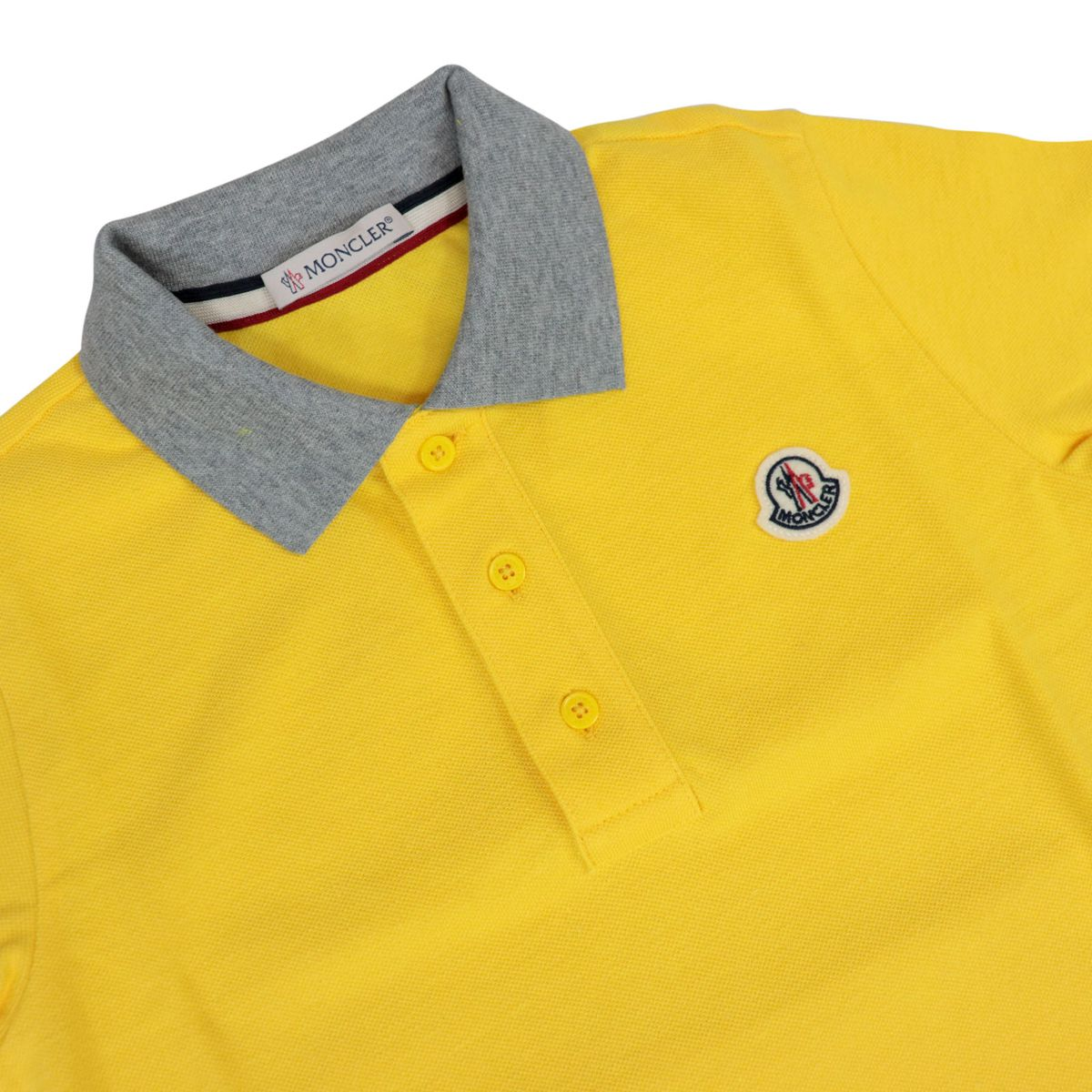 Cotton piquet polo shirt with contrast collar Sunflower Moncler