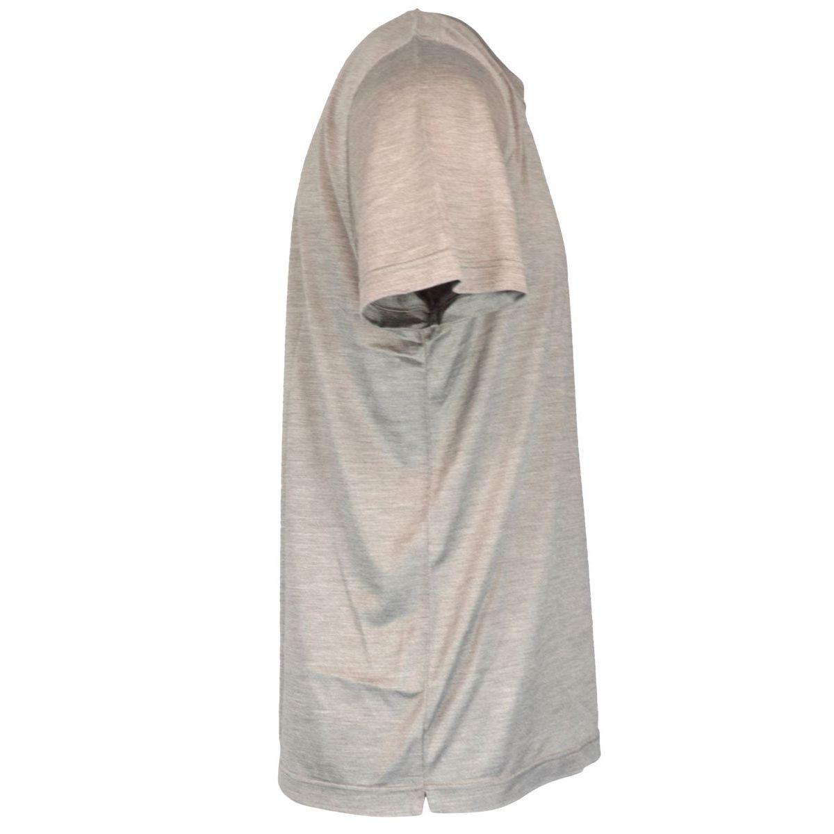 Short-sleeved silk crew-neck t-shirt Tortora Gran Sasso