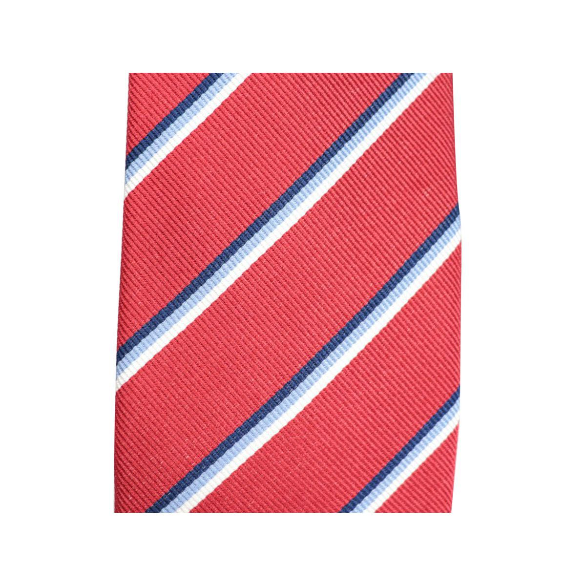 Silk tie with diagonal striped pattern CM 7 Red Church's