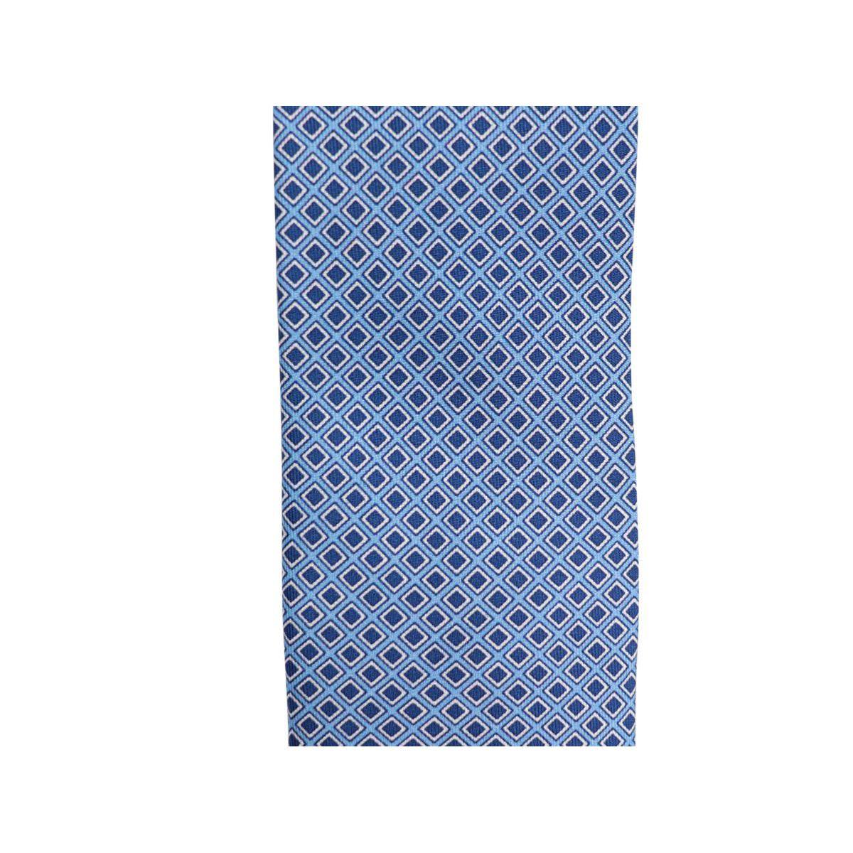 Geometric micro patterned silk tie CM 7 Light blue Church's