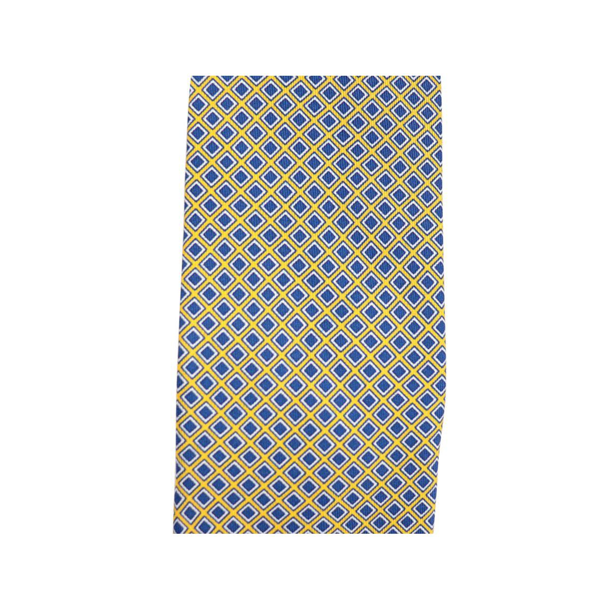 Geometric micro patterned silk tie CM 7 Yellow Church's