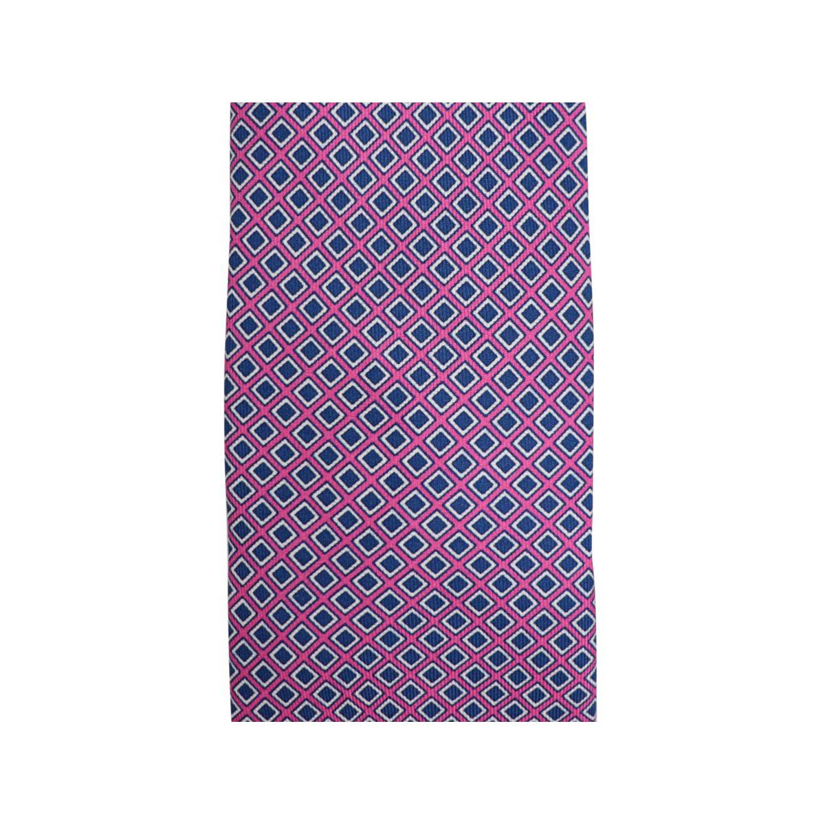 Geometric micro patterned silk tie CM 7 Lilac Church's