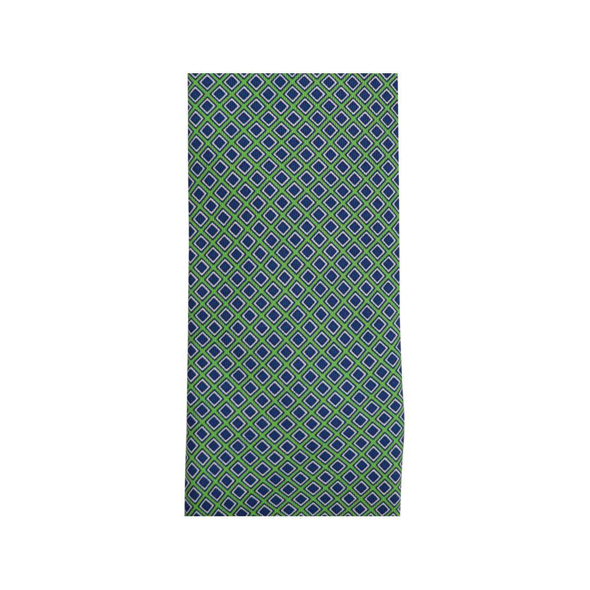 Geometric micro patterned silk tie CM 7 Emerald Church's
