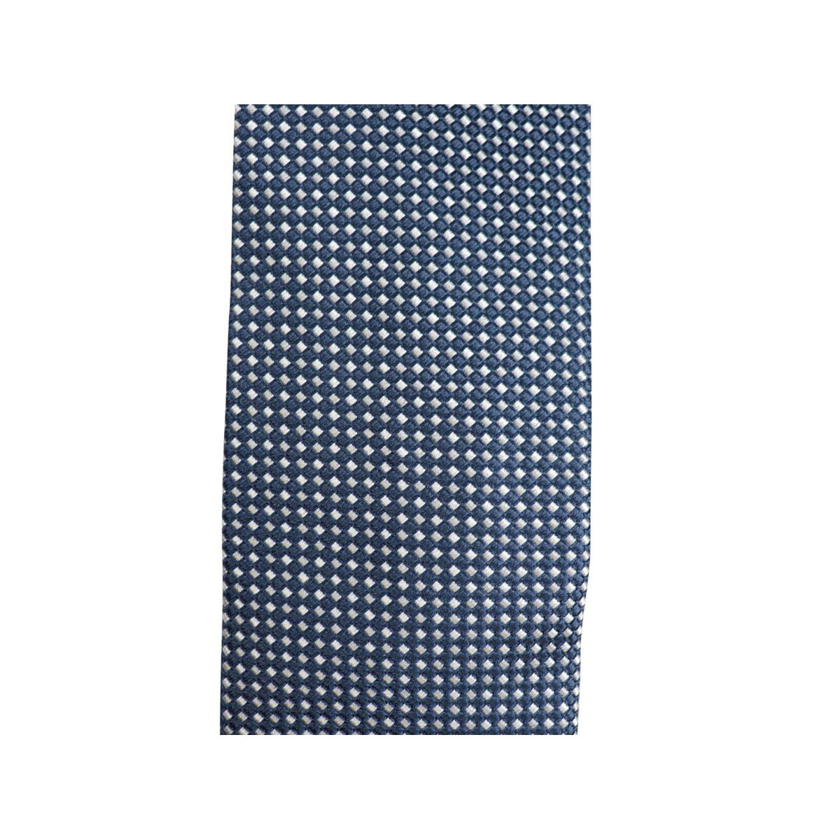 Micro patterned silk tie CM 7 Navy Church's