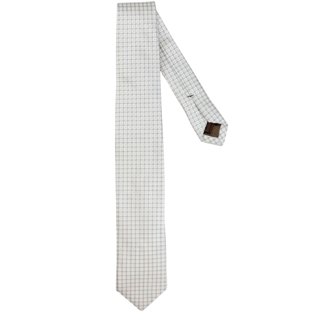 Micro patterned silk tie Silver Church's