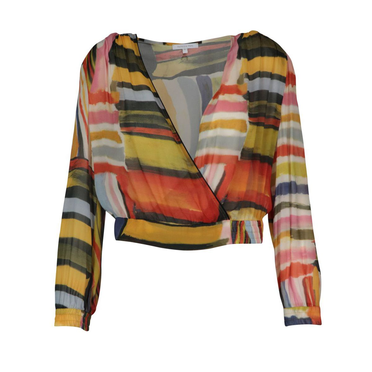 Blouse in viscose chiffon with multicolor print Colorful print Patrizia Pepe