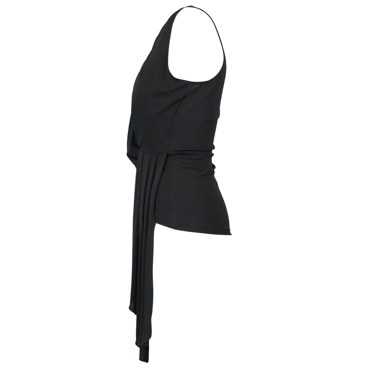 Sleeveless jersey top with sash Black Patrizia Pepe