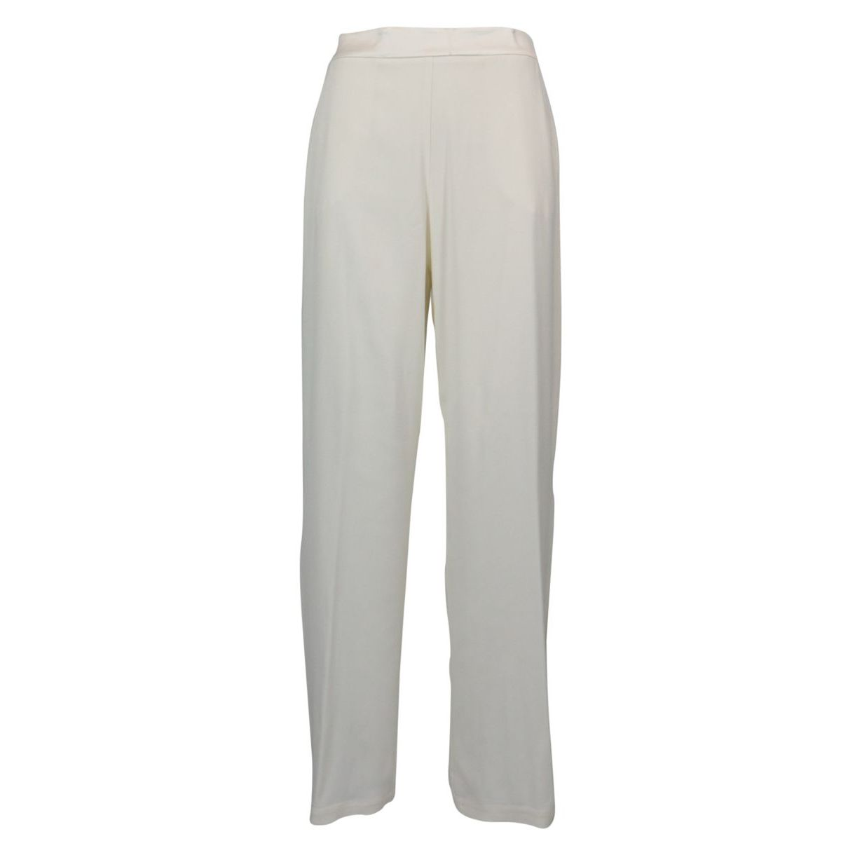 High-waisted crepe trousers with side slits Ivory Patrizia Pepe