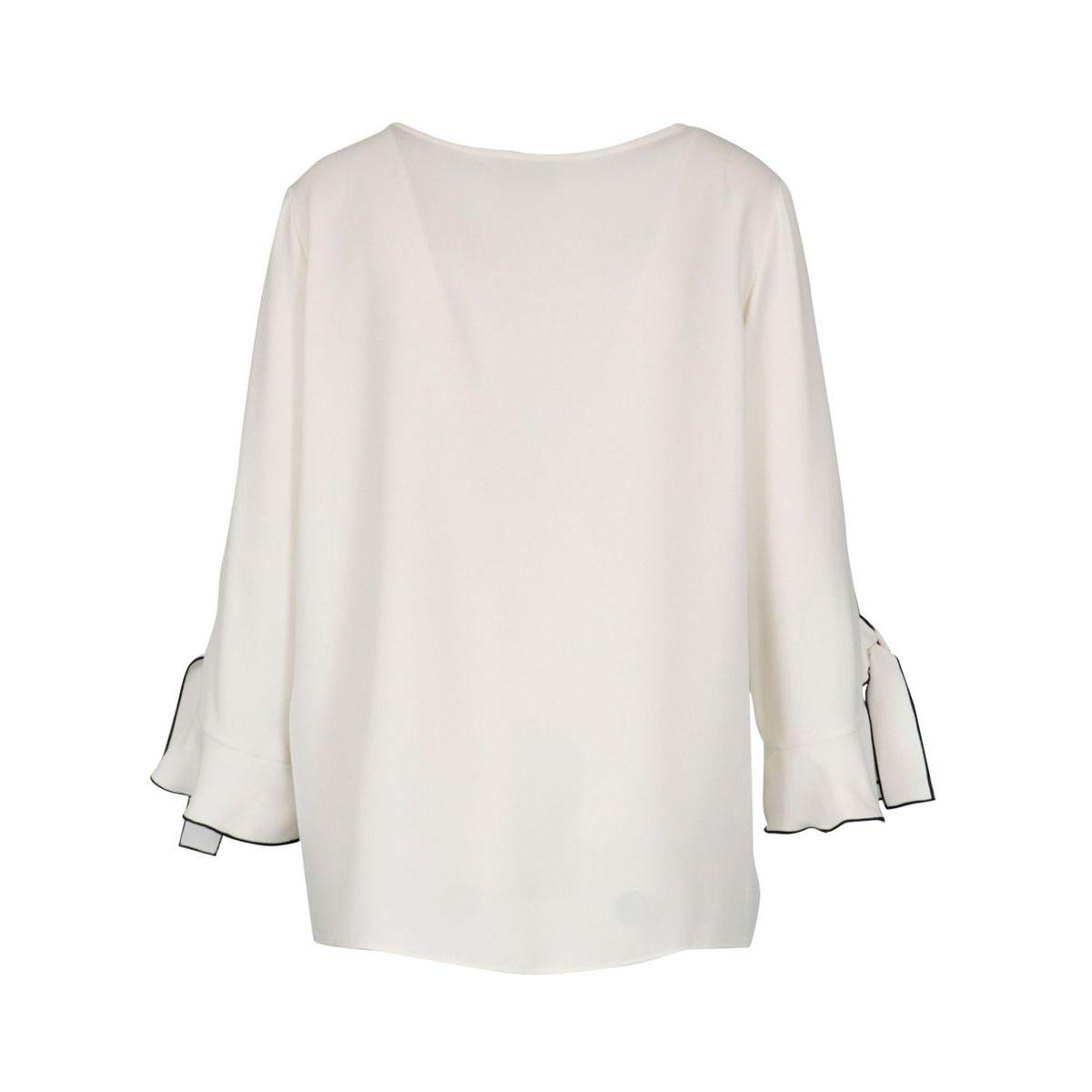 Crepe sweater with contrasting borders White Joseph Ribkoff