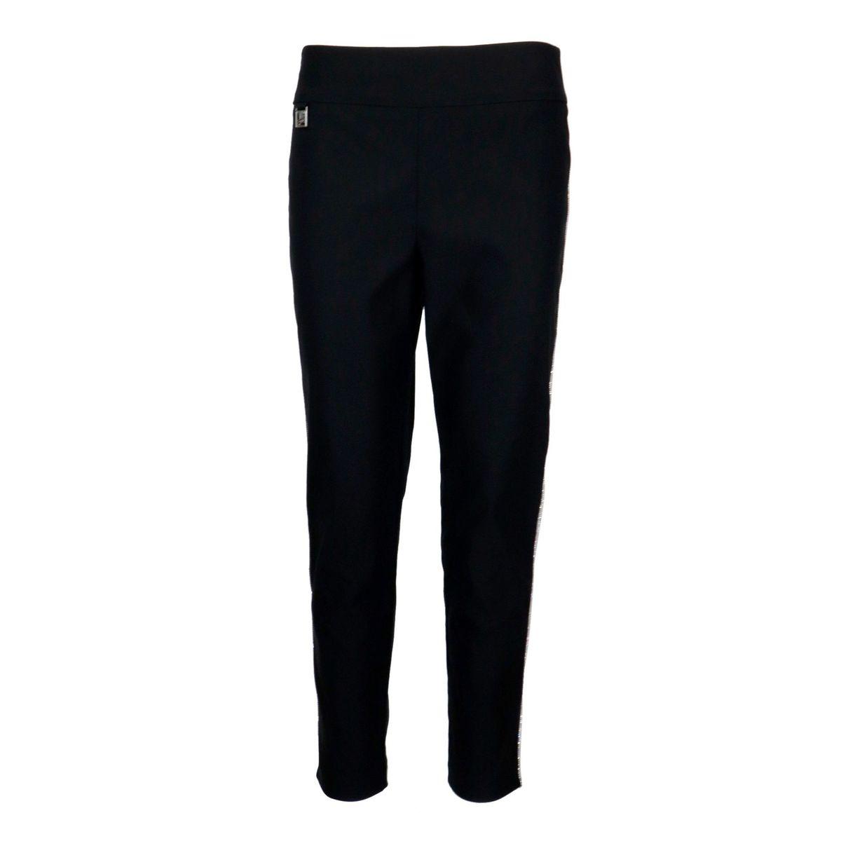 Cigarette trousers in stretch jersey Black Joseph Ribkoff