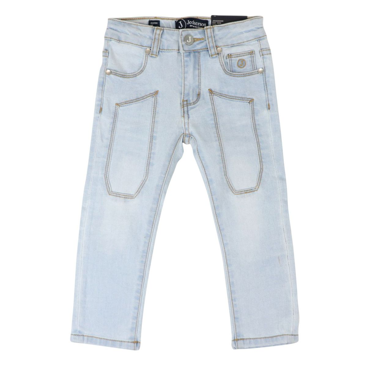 5 pocket jeans with patch Light denim Jeckerson