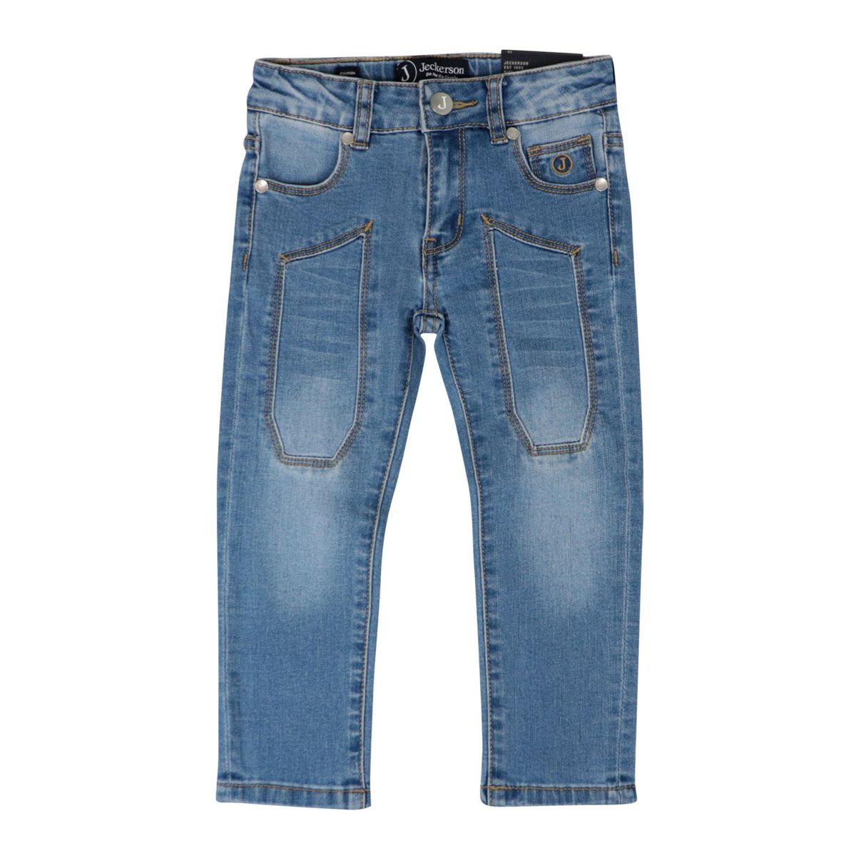5 pocket jeans with patch Medium denim Jeckerson