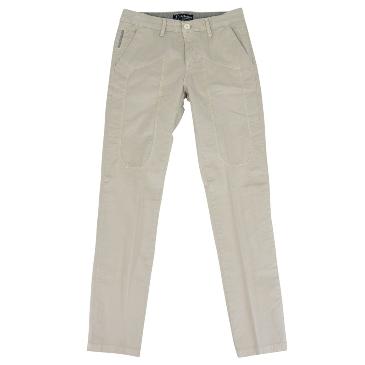 Cotton chinos trousers with patches Sand Jeckerson