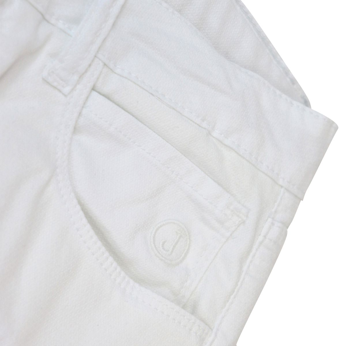 Micro-pattern trousers in cotton with patches White Jeckerson