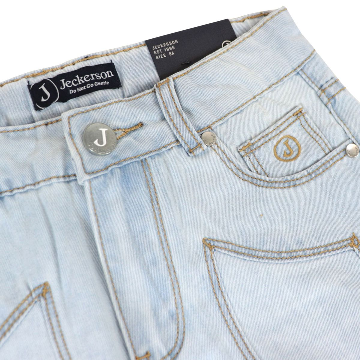 Denim bermuda with patch Light denim Jeckerson