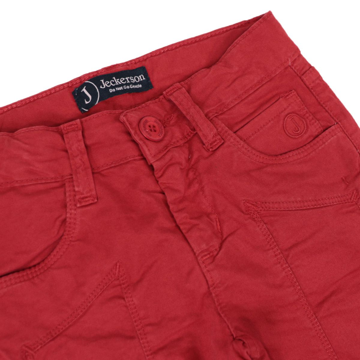 Gabardine bermuda with matching patch Red Jeckerson