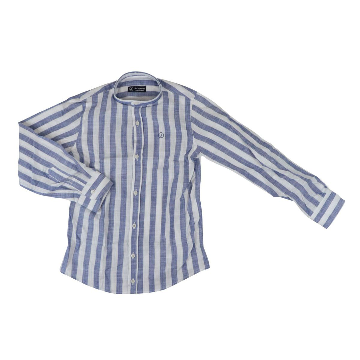 Long-sleeved striped linen shirt White / blue Jeckerson