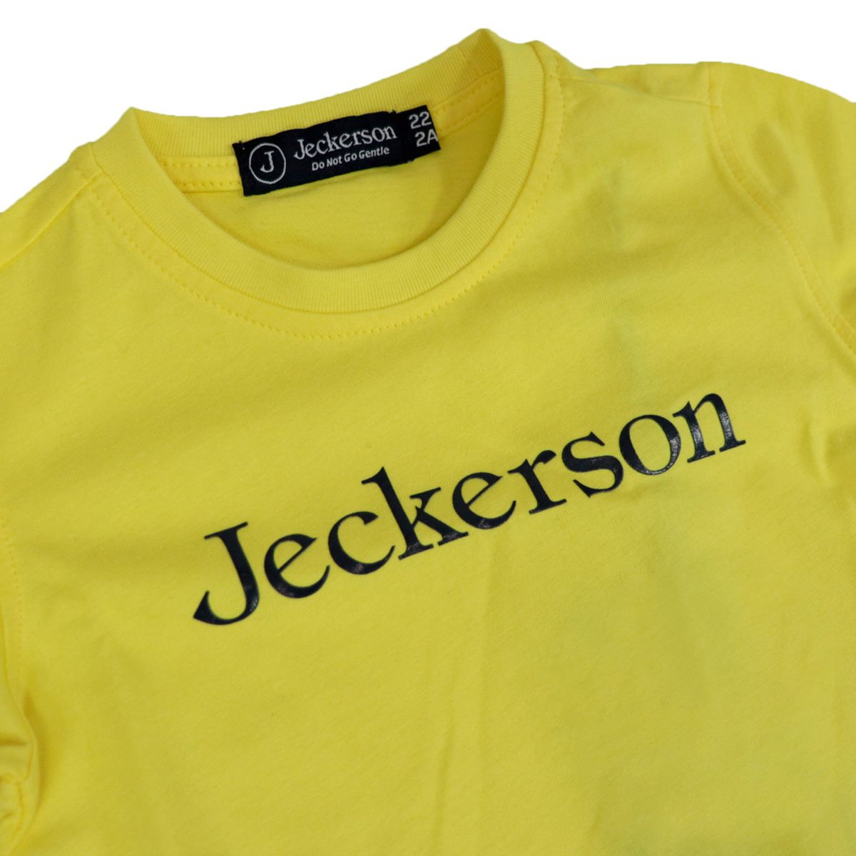 Short-sleeved cotton T-shirt with contrasting logo Yellow Jeckerson