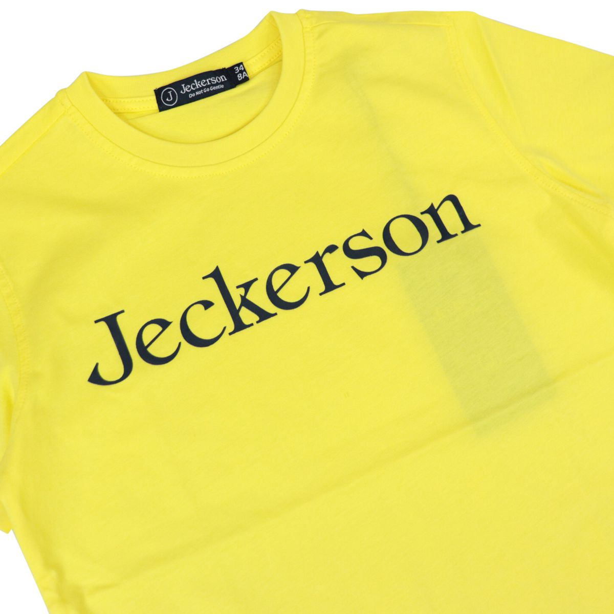 Cotton t-shirt with front logo lettering Yellow Jeckerson