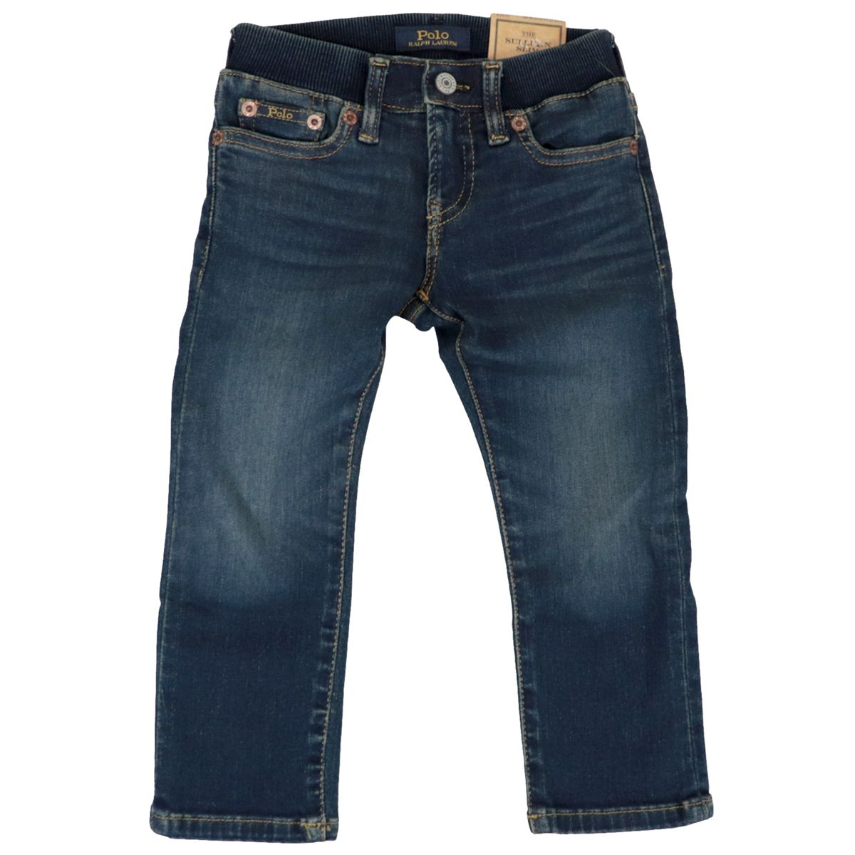 5-pocket jeans in medium denim with elastic waistband Dark denim Polo Ralph Lauren