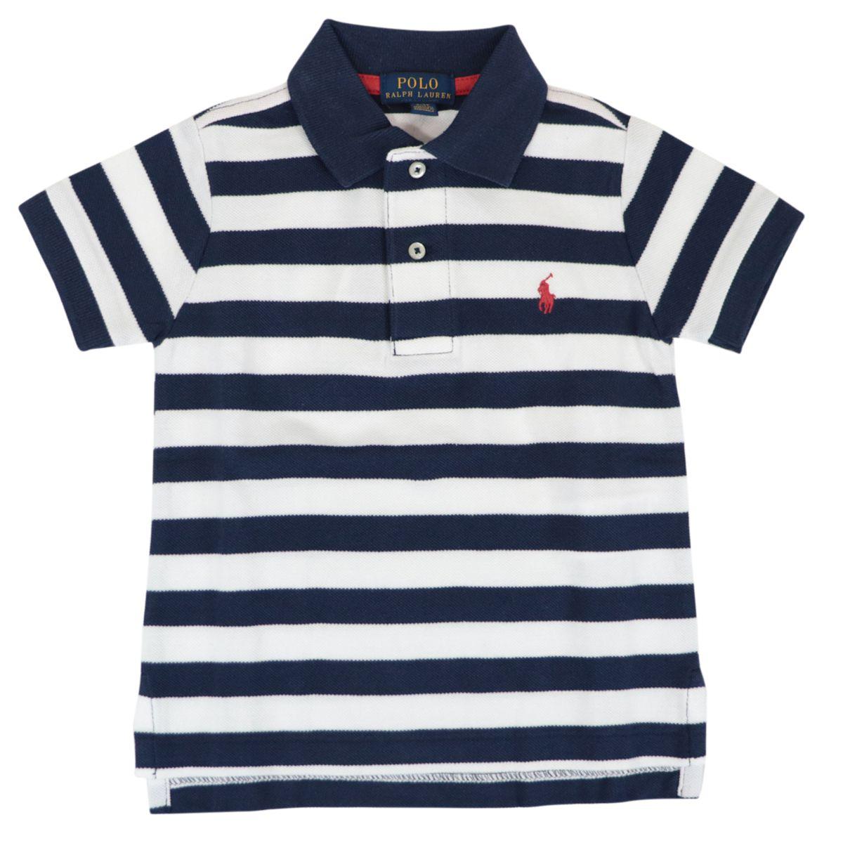Cotton piqué polo shirt with striped logo motif White Polo Ralph Lauren