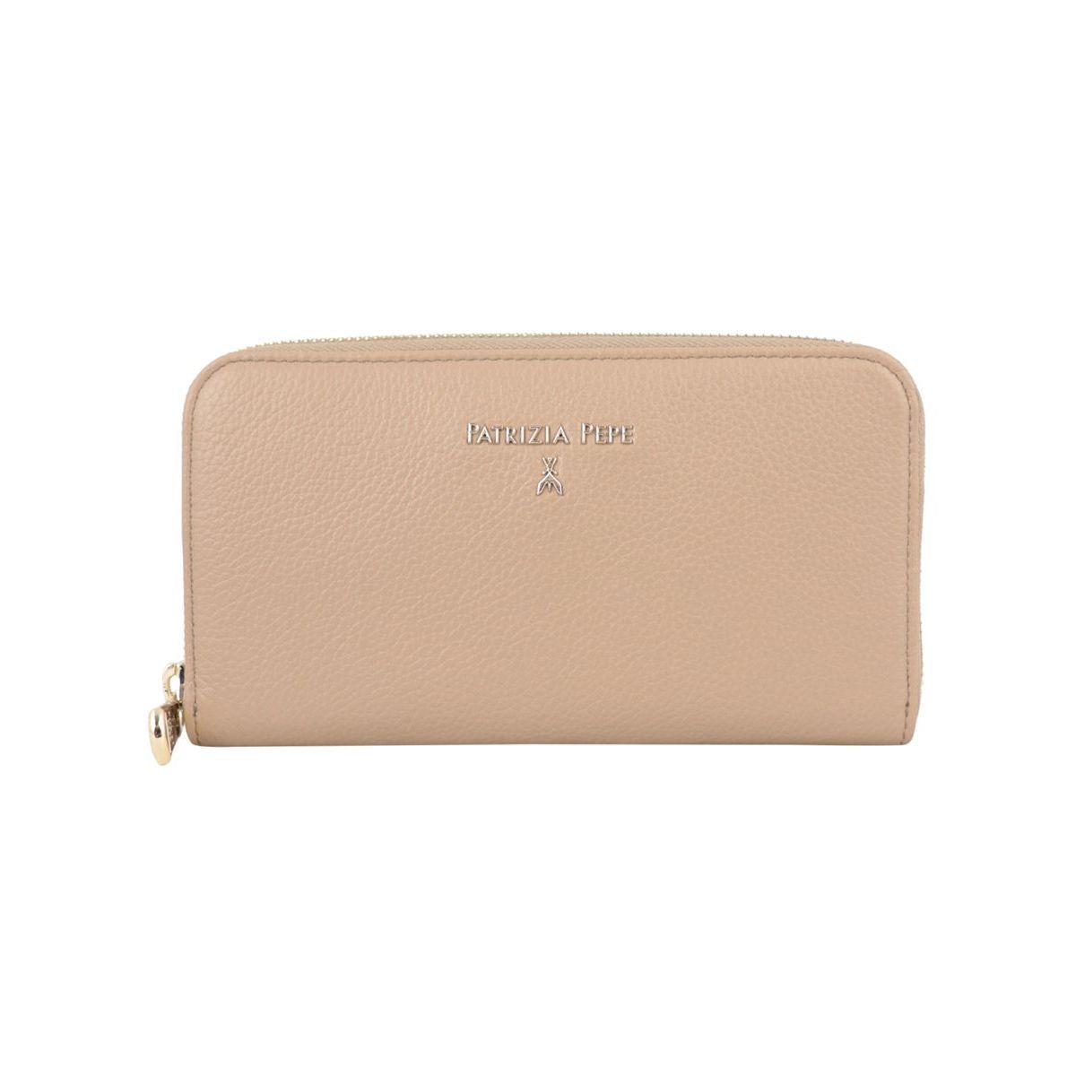 Zip-around leather wallet Ivory Patrizia Pepe