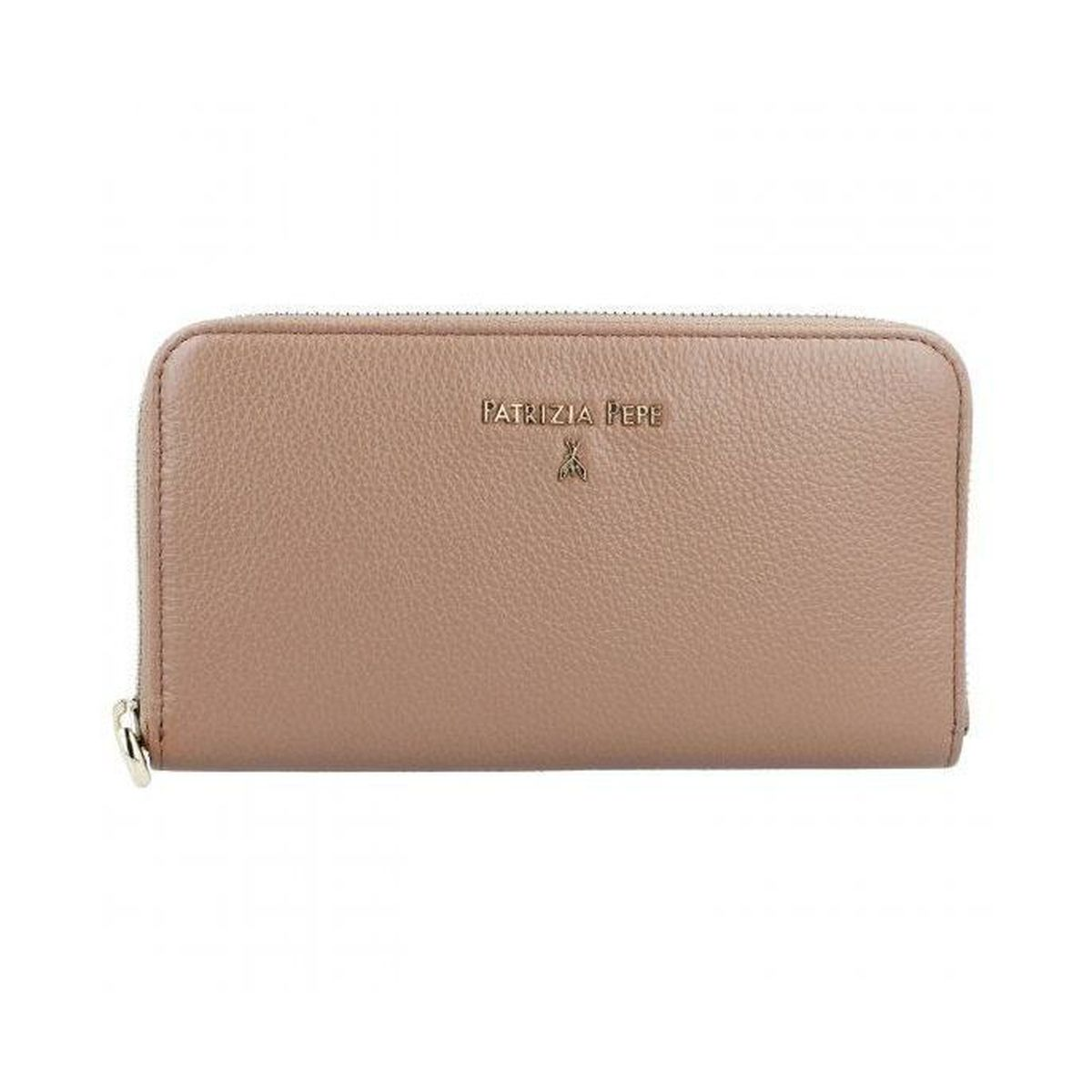 Zip-around leather wallet Beige Patrizia Pepe