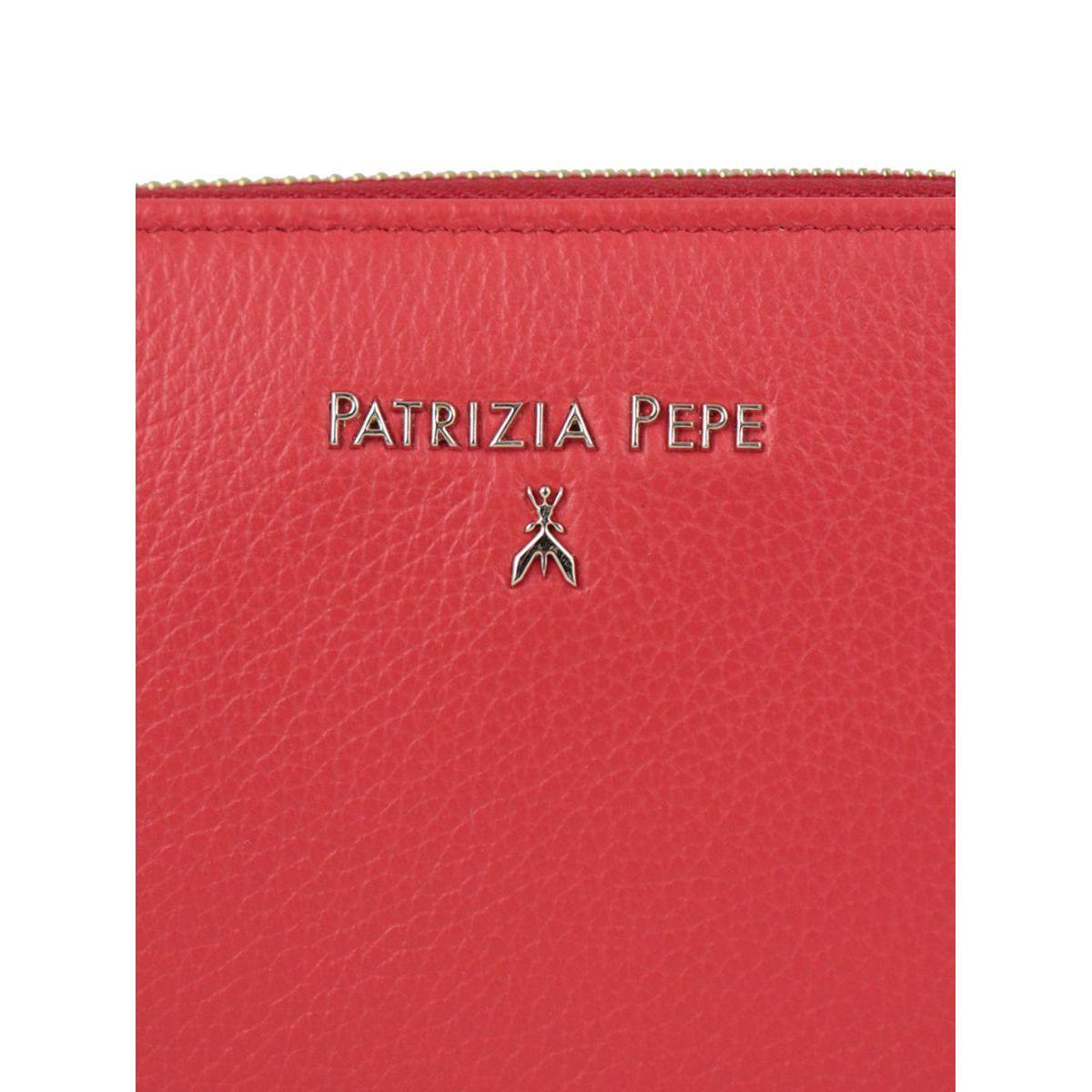 Zip-around leather wallet Red Patrizia Pepe
