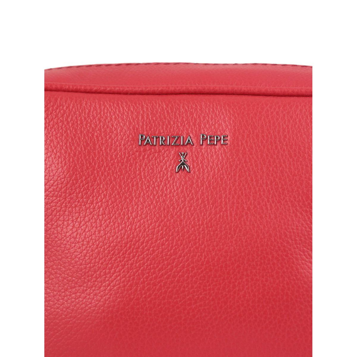 Beauty in textured leather with logo Red Patrizia Pepe