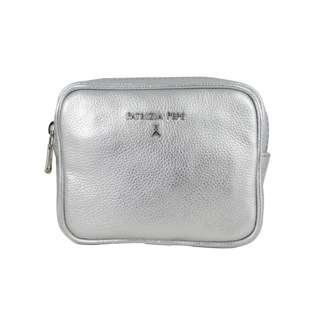 Beauty in textured leather Silver Patrizia Pepe