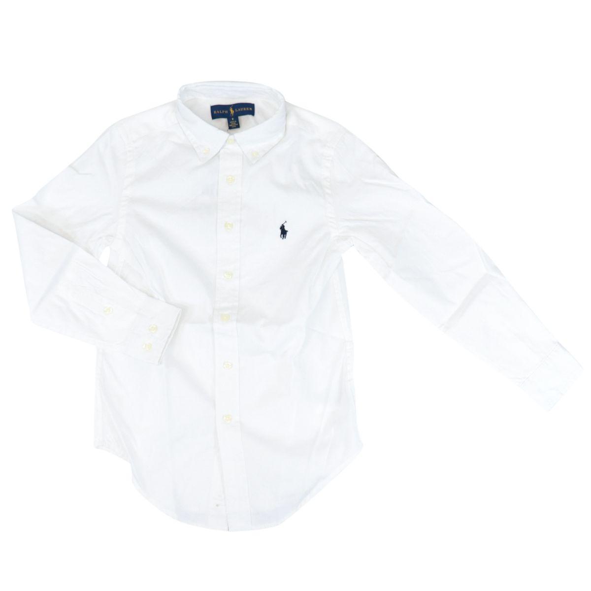 Cotton shirt with botton down collar White Polo Ralph Lauren