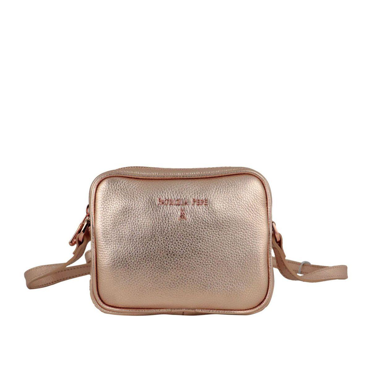 Shoulder strap in metal leather Pink gold Patrizia Pepe