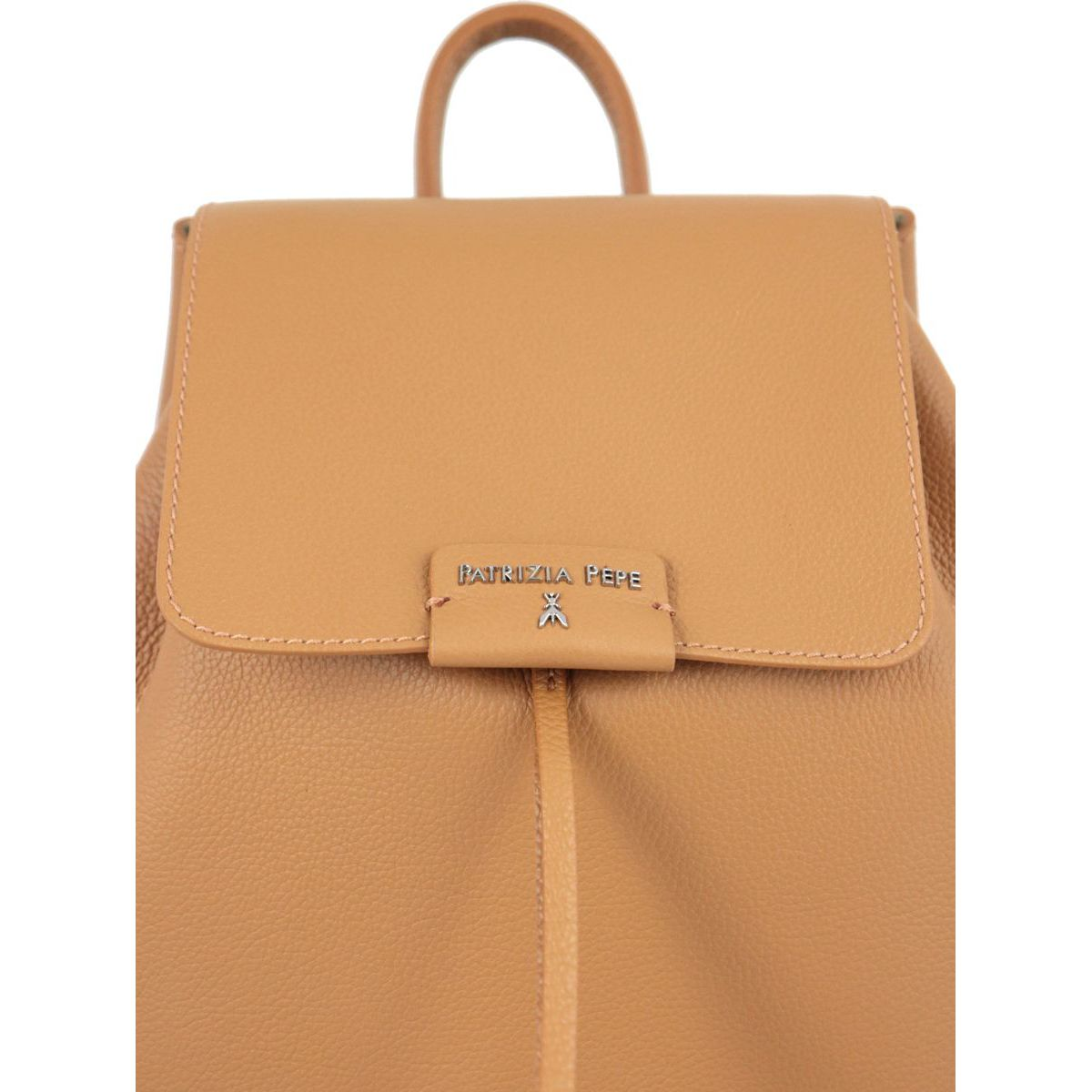 Textured leather backpack with logo Leather Patrizia Pepe