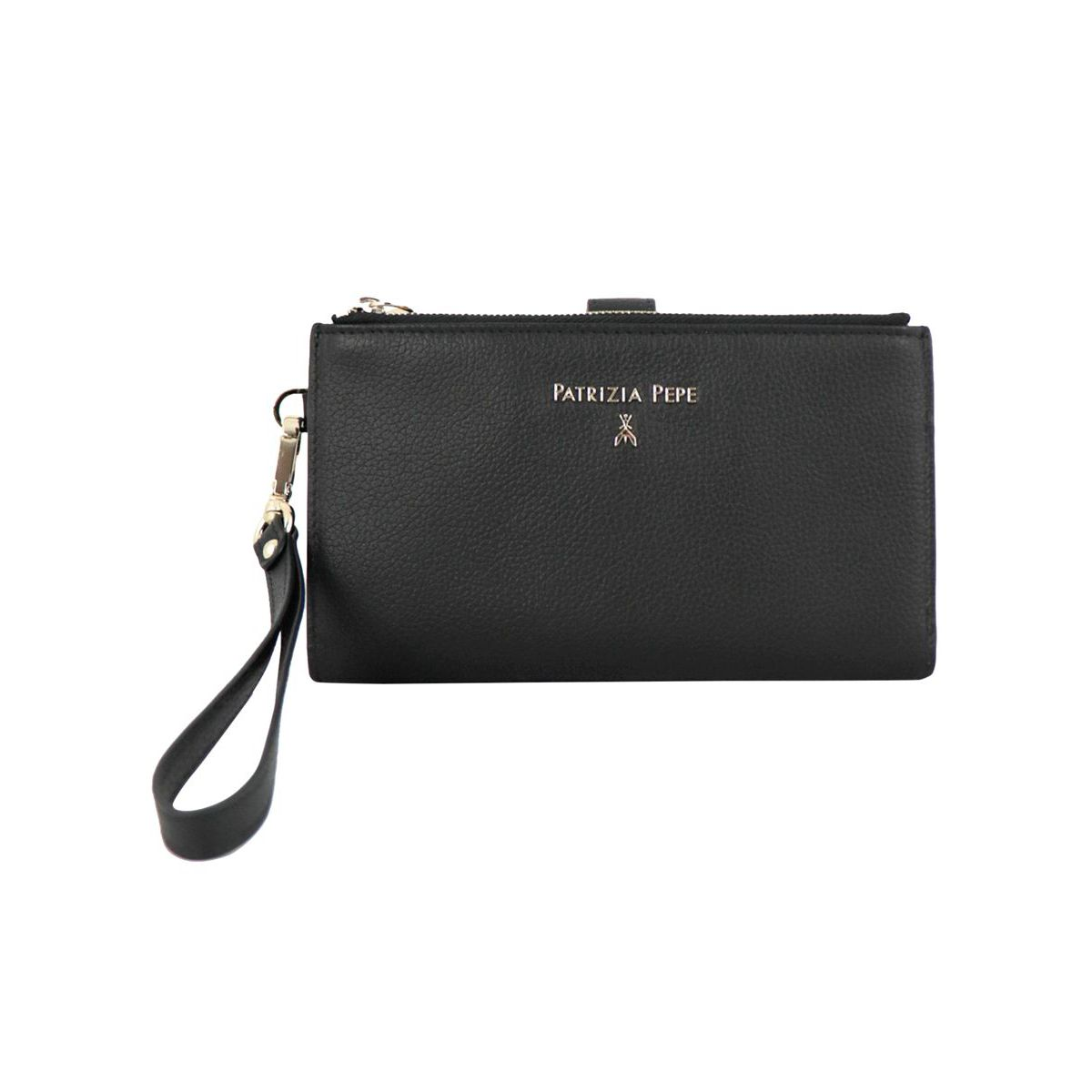 Leather wallet with double zip Black Patrizia Pepe