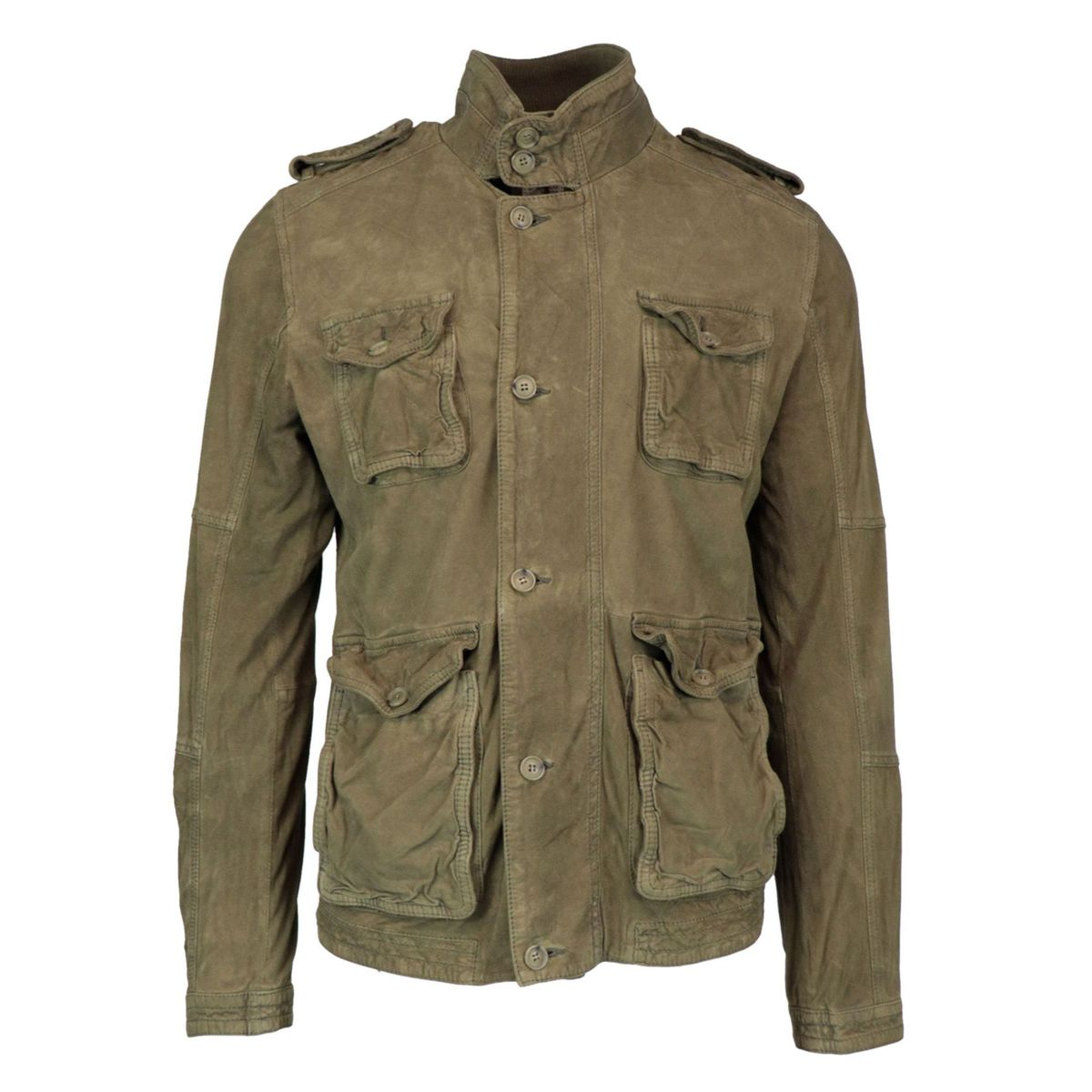 Indian Scout jacket in vintage effect suede Military Andrea D'amico