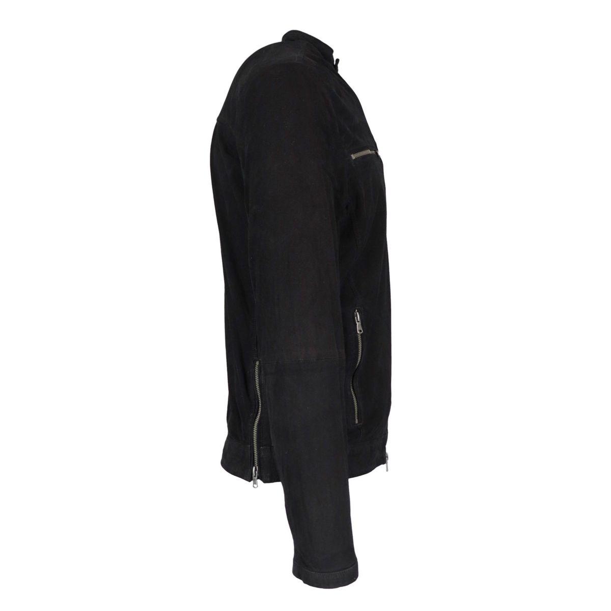 Ferdinando suede jacket Black Andrea D'amico
