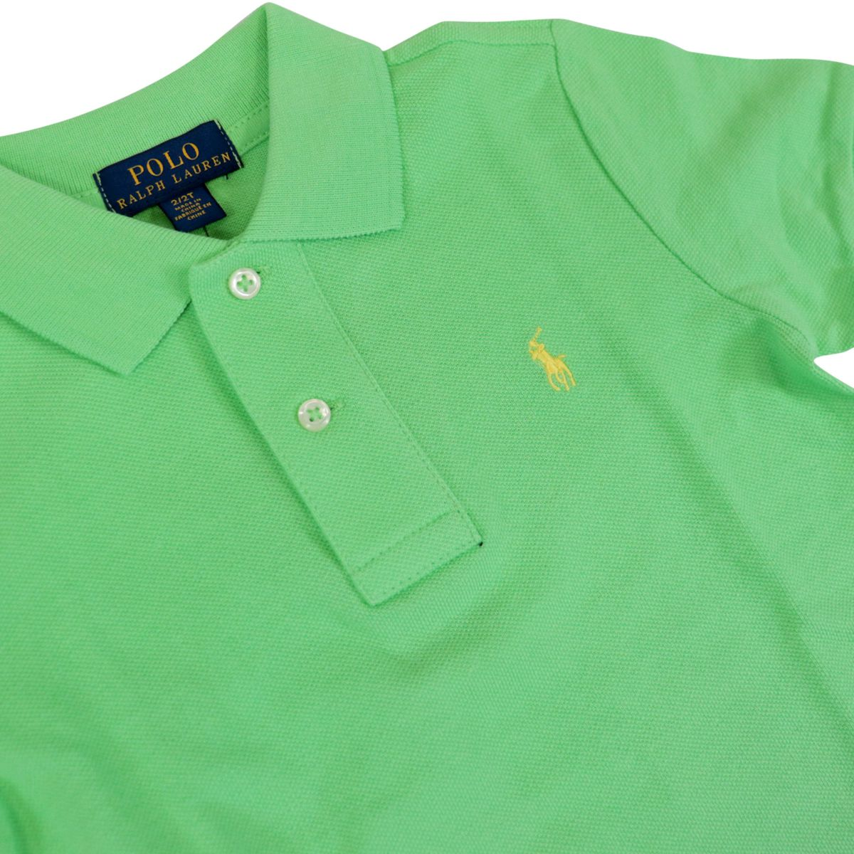 Two-button polo with front logo embroidery New lime Polo Ralph Lauren