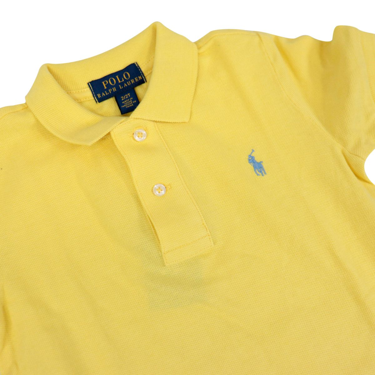 Two-button polo with front logo embroidery Yellow Polo Ralph Lauren