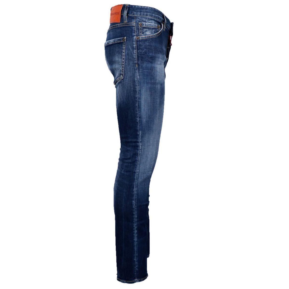 Skinny jeans in washed effect cotton blend Denim Dsquared2