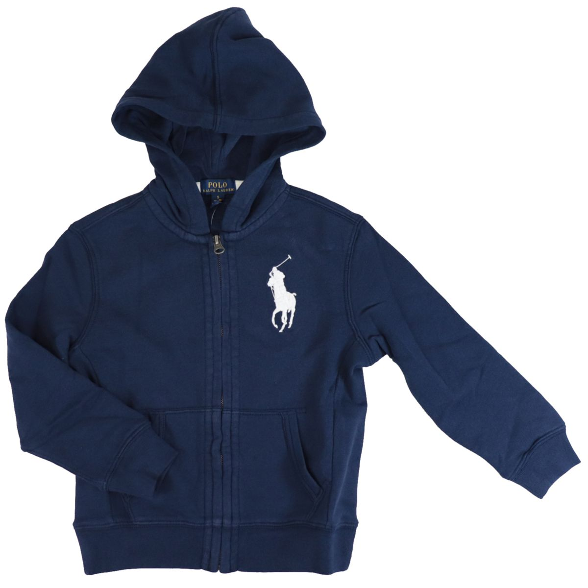 Cotton sweatshirt with maxi logo and hood Navy Polo Ralph Lauren
