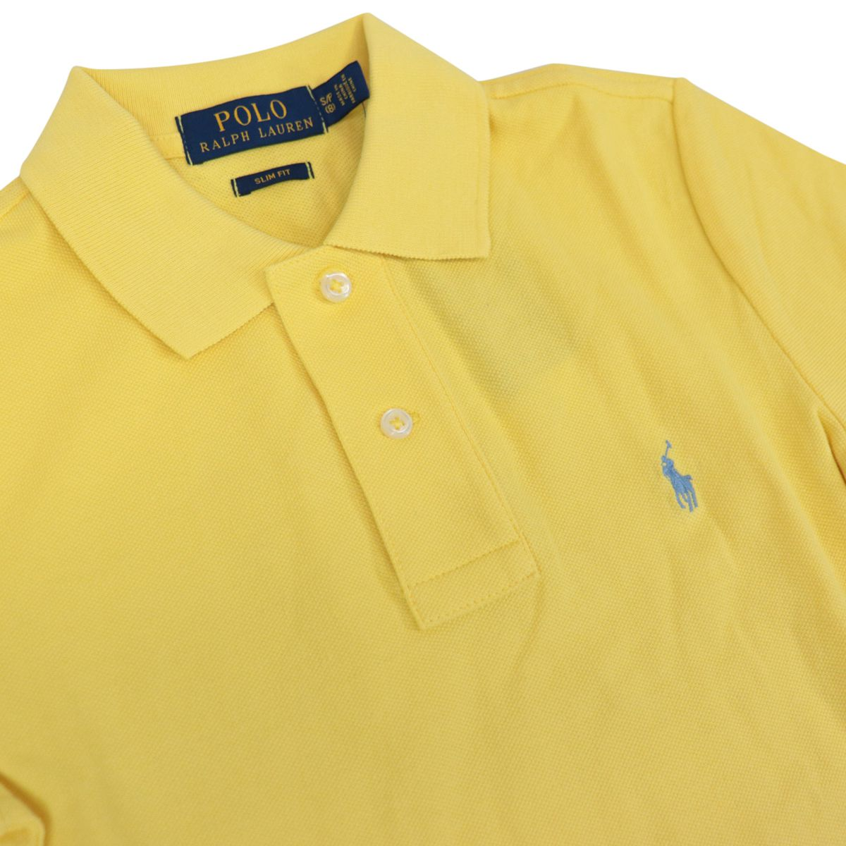 Custom fit polo shirt with contrasting logo embroidery Yellow Polo Ralph Lauren