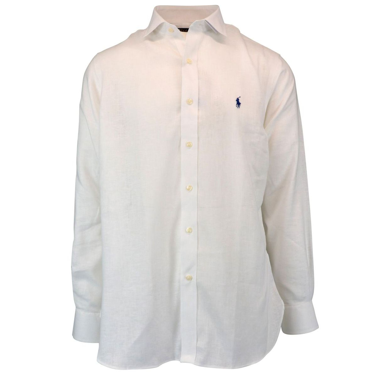 Classic Fit linen shirt with French collar White Polo Ralph Lauren