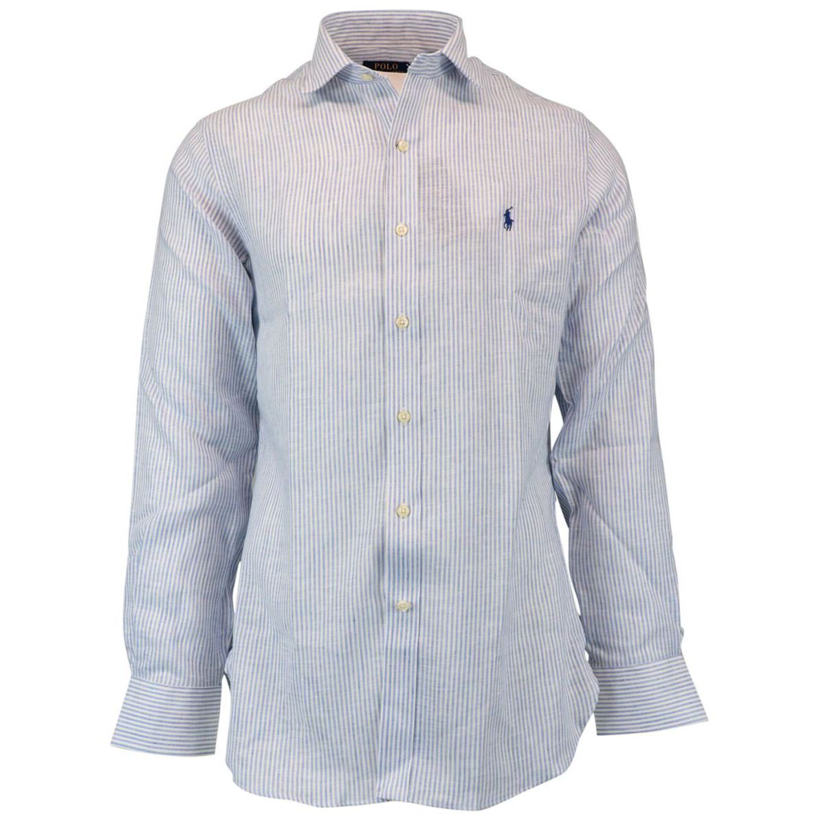 Classic Fit linen shirt with French collar Sky Polo Ralph Lauren