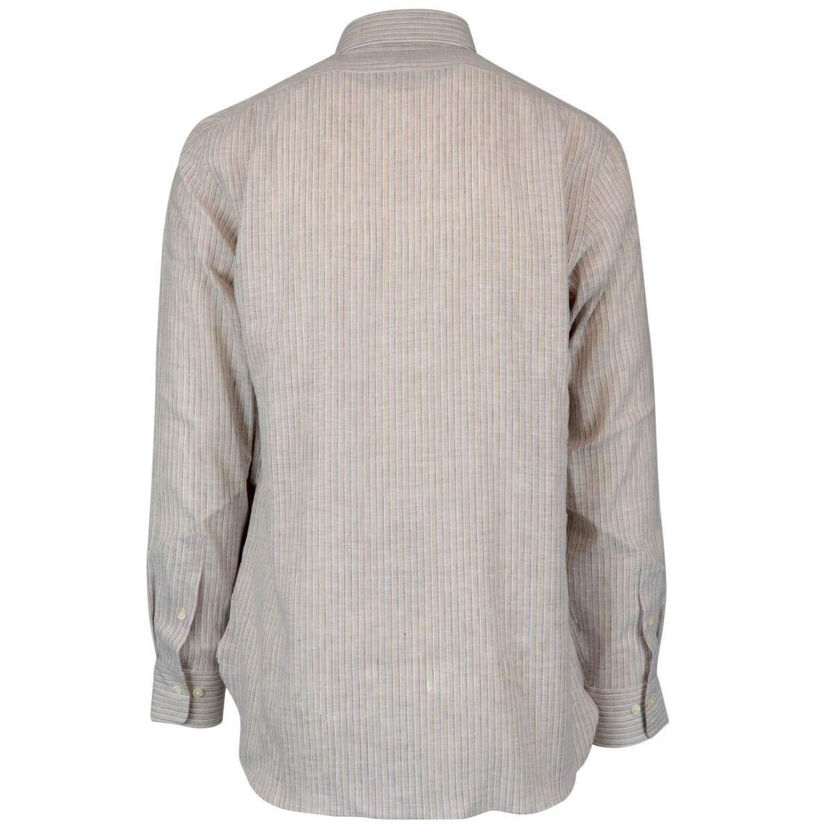 Classic Fit linen shirt with French collar Ecru Polo Ralph Lauren