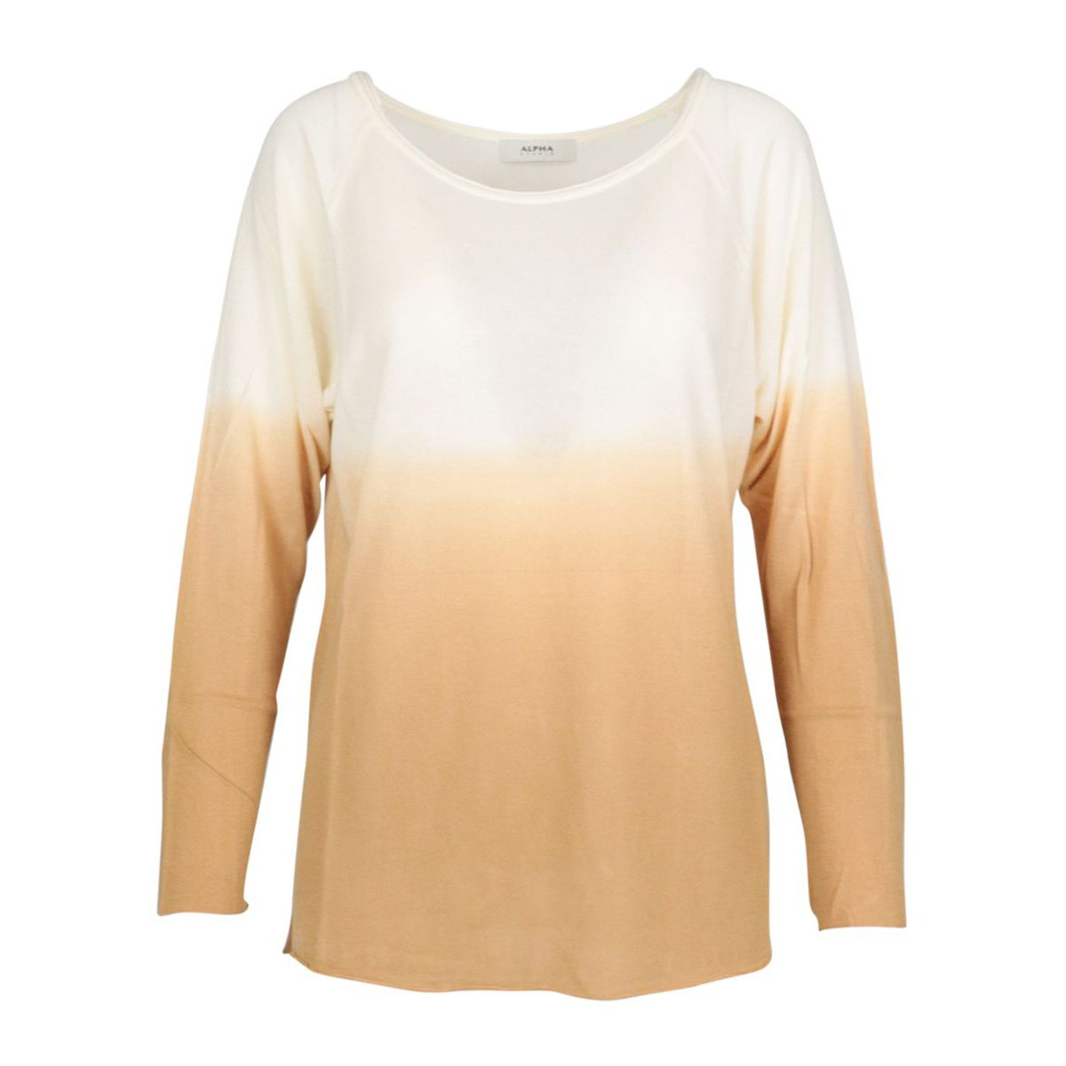 Modal and cashmere blend sweater with boat neckline Bronze Alpha Studio