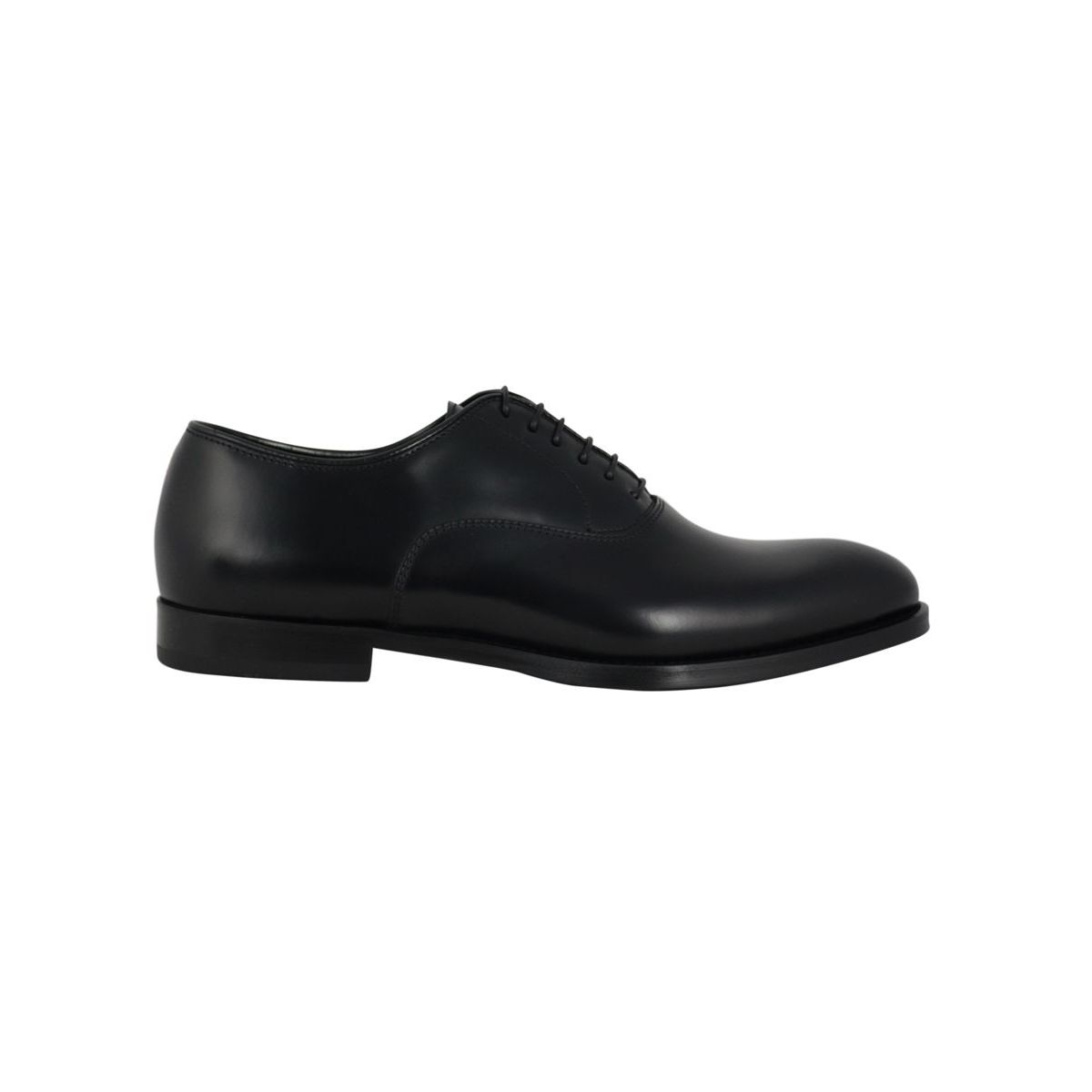 Oxford derby lace-up in smooth leather Black Doucal's