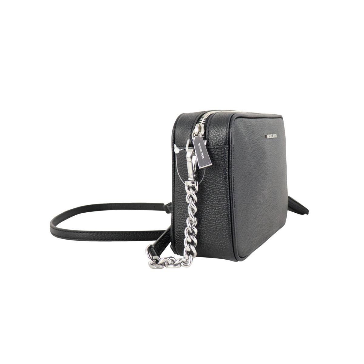 Medium camera bag in textured leather Black Michael Kors