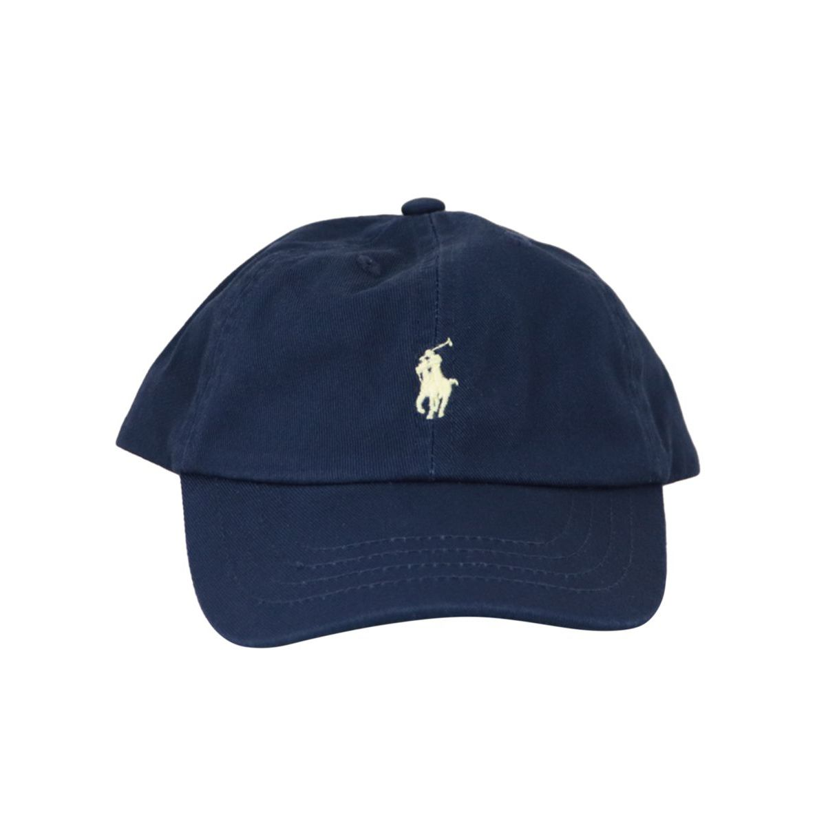 Cotton cap with contrasting embroidered logo Navy Polo Ralph Lauren