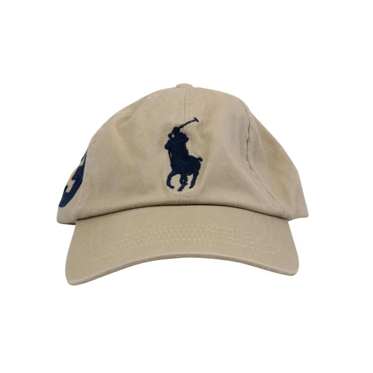 Cotton hat with embroidered logo Kaki Polo Ralph Lauren