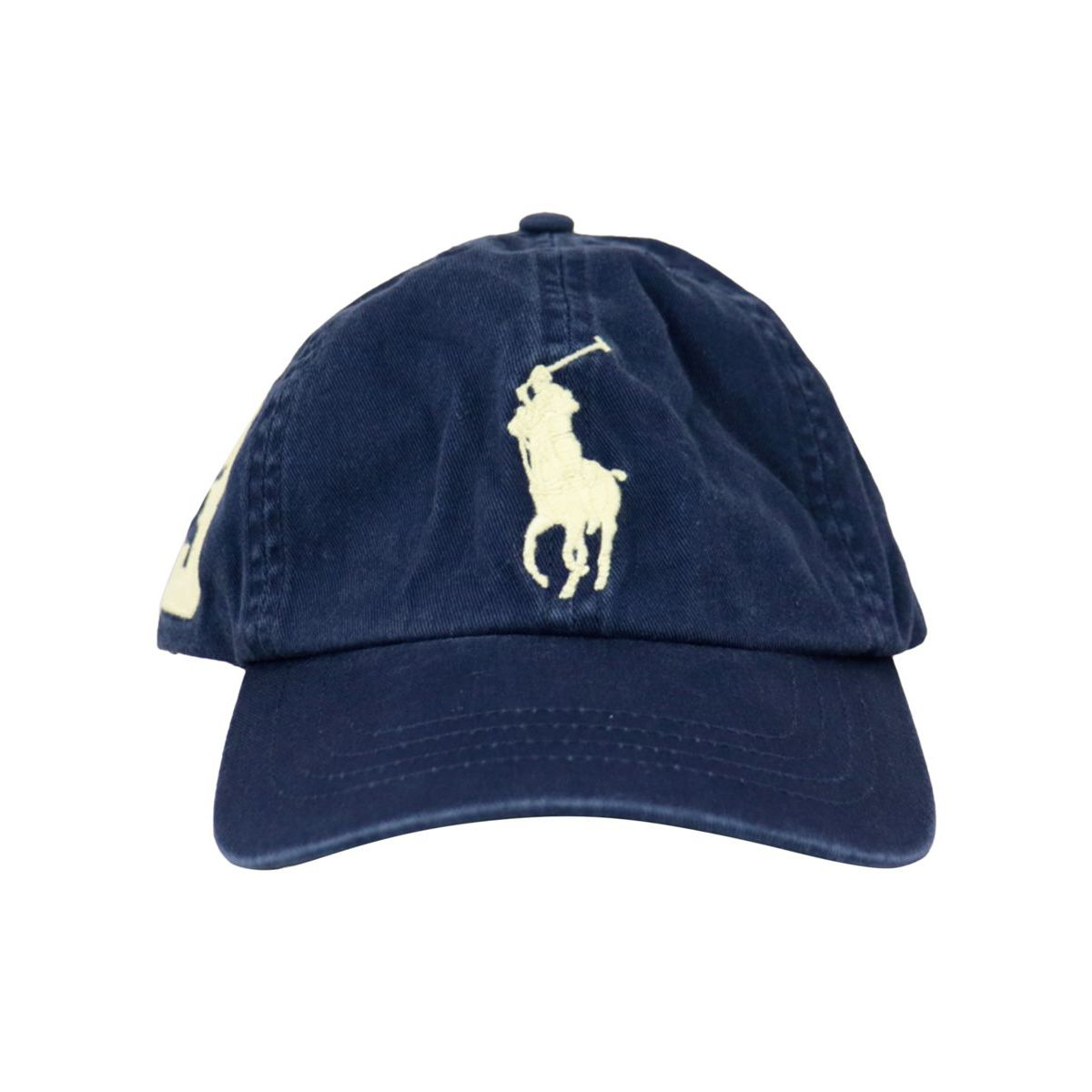Cotton hat with embroidered logo Navy Polo Ralph Lauren